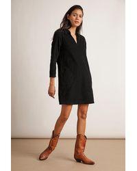 Velvet By Graham & Spencer Lana Corduroy Shirt Dress - Black