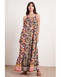 Mango Simona Jaipur Block Print Dress In Multi - Multicolour