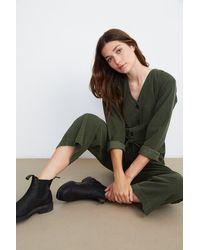 Velvet By Graham & Spencer Ruthann Corduroy Jumpsuit - Green