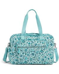 Vera Bradley Deluxe Weekender Travel Bag - Blue