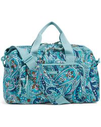 Vera Bradley Lighten Up Compact Weekender Travel Bag - Blue
