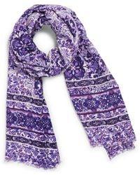 Vera Bradley Soft Fringe Scarf - Purple