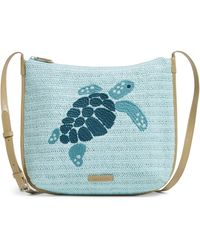 Vera Bradley Straw Crossbody Bag - Blue