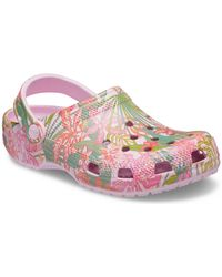 Vera Bradley Crocs Classic Rain Forest Canopy Pink Clog