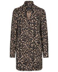 Vero Moda Leopardenprint Long Jacke - Braun