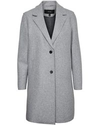 Vero Moda Long Mantel - Grau