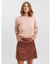 Vero Moda Langärmelig strickpullover - Pink