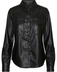 Vero Moda Enduite Chemise - Noir