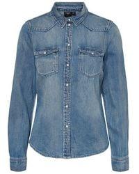 Vero Moda Jean Chemise - Bleu