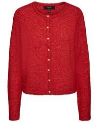Vero Moda Perlen strickjacke - Rot