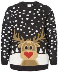Vero Moda Kerst Gebreide Trui - Zwart