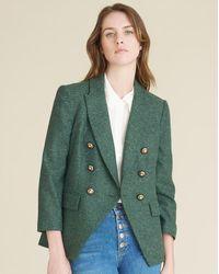 Veronica Beard Empire Dickey Jacket - Green