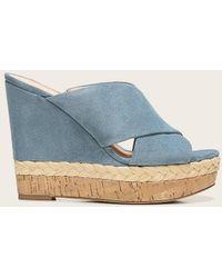 Veronica Beard Loro Wedge Sandal - Blue