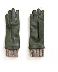 Veronica Beard Siglinda Cashmere Cuff Gloves - Green