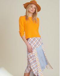 Veronica Beard Stellon Mixed-media Skirt - Multicolour