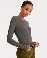 Veronica Beard Spencer Bodysuit - Grey