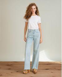 Veronica Beard Taylor High-rise Wide-leg Jean - Blue