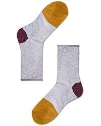 Veronica Beard Happy Socks Franca Ankle Socks - Purple
