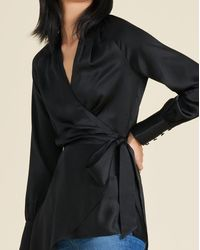 Veronica Beard - Viv Silk Wrap Top - Lyst