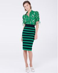 Veronica Beard Baker Skirt - Green