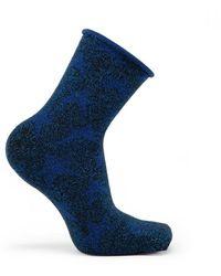 Veronica Beard Tailored Union Stars Socks - Blue