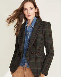Veronica Beard Miller Herringbone Plaid Dickey Jacket - Multicolor