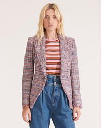 Veronica Beard Theron Multicolored Tweed Jacket