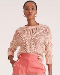 Veronica Beard Eleanor Pom-pom Sweater - Pink