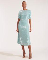 Veronica Beard Carlie Sequin Dress - Blue