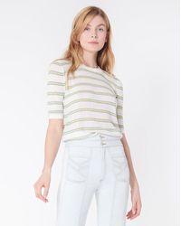 Veronica Beard Short Sleeve Dean Jumper - White