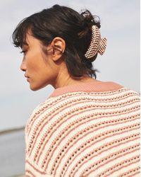 Veronica Beard Machete Grande Heirloom Claw - Brown