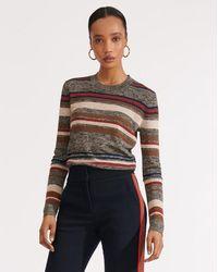 Veronica Beard Jora Cropped Pullover - Multicolour