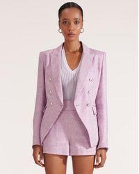 Veronica Beard Miller Linen Dickey Jacket - Purple