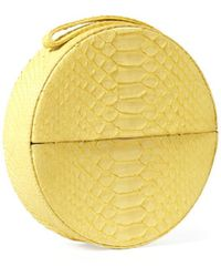 Veronica Beard Round Python Clutch Gelareh Mizrahi - Yellow