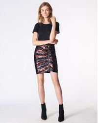 Veronica Beard - Marlon Ruched Sequined Crepe Mini Skirt - Lyst