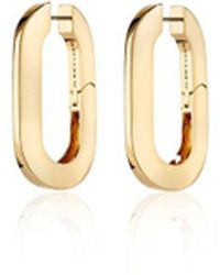 Veronica Beard Mega U-link Earrings - Metallic