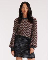 Veronica Beard Ruth Bishop Sleeve Sweater - Multicolour