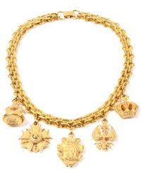 Veronica Beard Royal Charm Gold Necklace Ben Amun - Metallic