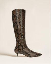 Veronica Beard Freda Kitten-heel Knee-high Boot - Brown