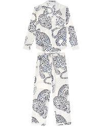 Veronica Beard Desmond And Dempsey The Jag Print Pyjama Set - Black