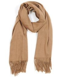 Veronica Beard Woven Cashmere Wrap - Natural