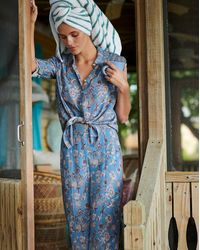 Veronica Beard Pomeline Pajama-style Pant - Blue