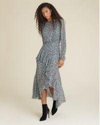 Veronica Beard Sazan Floral Dress - Blue