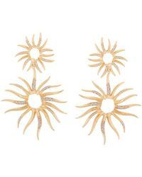 Veronica Beard - Joanna Laura Constantine Statement Sun Pave Earrings - Lyst