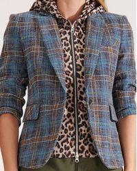 Veronica Beard Halle Leopard Hoodie Dickey - Multicolor