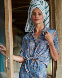 Veronica Beard Dazed Floral Shirt - Blue