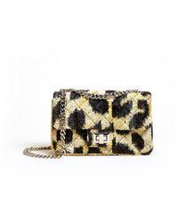 Veronica Beard Mini Leopard Velvet Bandita Bag - Multicolour