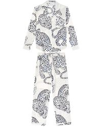 Veronica Beard The Jag Print Pyjama Set - Black