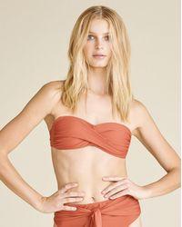 Veronica Beard Lina Twist Bandeau Bikini Top - Multicolour