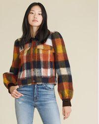 Veronica Beard Piana Brushed Flannel Coat - Multicolour
